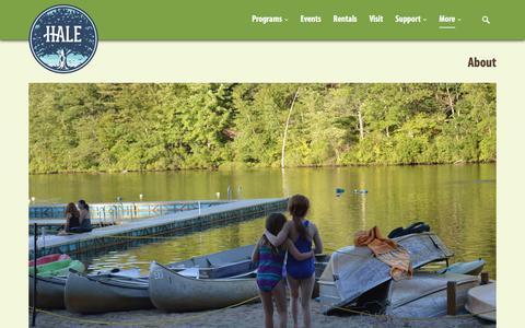 Screenshot of About Page halereservation.org - About - Hale Reservation - captured July 15, 2018