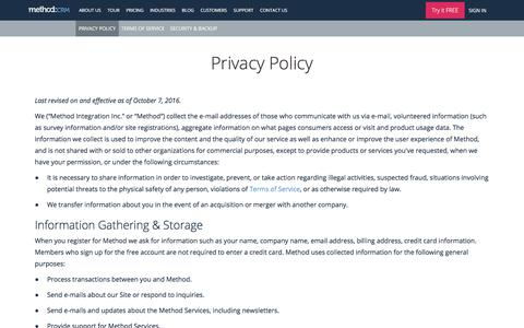 Method Privacy Policy | Method:CRM