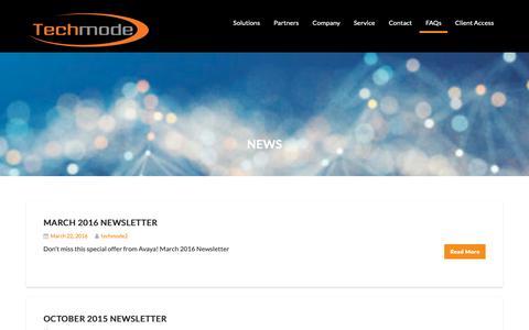 Screenshot of Press Page techmode.com - News - Techmode - captured Oct. 18, 2018