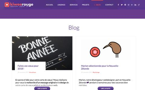 Screenshot of Blog kiweerouge.com - Blog - Agence Kiwee Rouge - captured Jan. 10, 2018