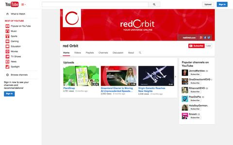 Screenshot of YouTube Page youtube.com - red Orbit  - YouTube - captured Oct. 26, 2014