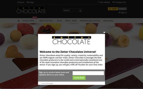 Screenshot of Home Page zotterusa.com - Zotter Chocolates US - captured July 9, 2018