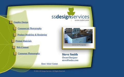 Screenshot of Home Page ssdss.com - Welcome to SS Design Services! - Graphic Design, Commercial Photography,  Product Medeling & Rendering, Printed Materials, Web Content, Consumer  Photography - captured June 18, 2015