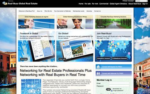 Screenshot of About Page real-buzz.com - Attract more buyers, more listings and more referrals with the - The global real estate marketplace - captured Oct. 22, 2017
