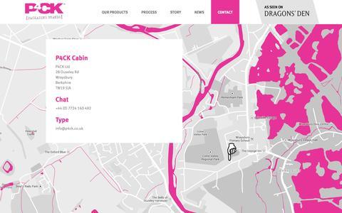 Screenshot of Contact Page p4ck.co.uk - Contact - p4ck - captured Sept. 26, 2014