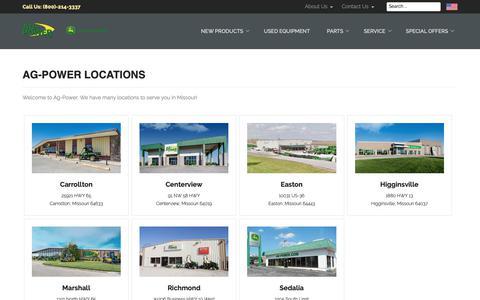 Screenshot of Locations Page ag-power.com - Ag-Power Locations - AG-POWER - captured Oct. 3, 2018