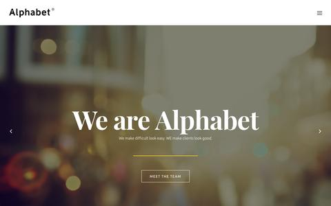 Alphabet – a strategic advertising, design and digital creative agency.
