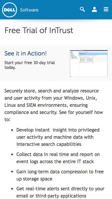 Download your free trial for InTrust