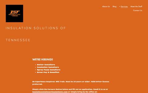 Screenshot of Jobs Page insulationtn.com - Careers — Insulation Solutions of TN, LLC - captured Oct. 12, 2018