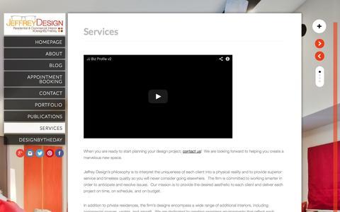 Screenshot of Services Page jeffreydesignllc.com - Services - JeffreyDesign LLC - JeffreyDesign LLC - captured Sept. 30, 2014
