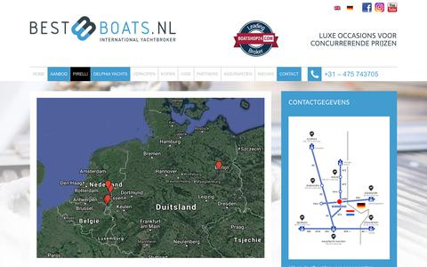 Screenshot of Contact Page bestboats.nl - Contact - BestBoats - International Yachtbroker - captured Nov. 6, 2018