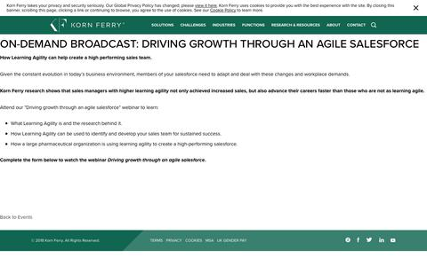 On-demand Broadcast: Driving growth through an agile salesforce