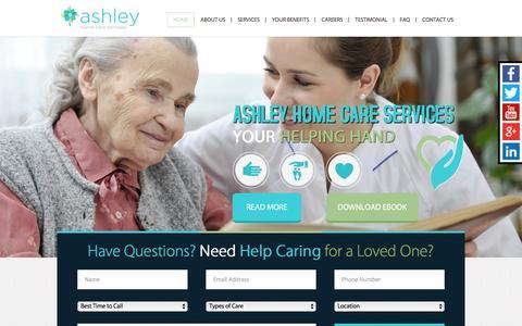 Screenshot of Home Page ashleyhomecareservices.com - Ashley Home Care Services - captured Dec. 26, 2015