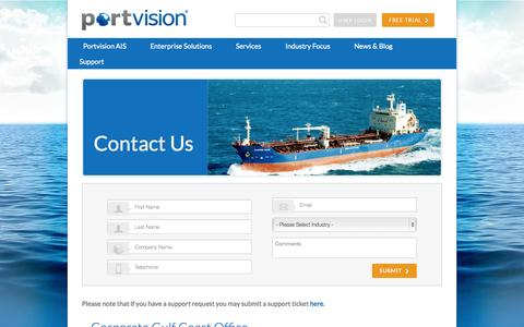 Screenshot of Contact Page portvision.com - Contact - Portvision - captured Sept. 30, 2014