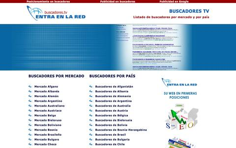 Screenshot of Home Page buscadores.tv - Buscadores TV - Listado de buscadores por mercados y país - captured March 3, 2016