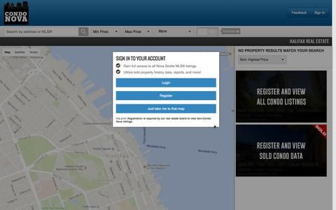 Screenshot of Maps & Directions Page condonova.ca - Halifax Condos For Sale | Condo Nova - captured Dec. 10, 2015