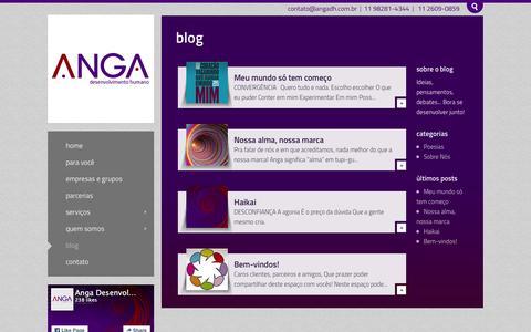 Screenshot of Blog angadh.com.br - Blog - Anga - captured Feb. 6, 2016