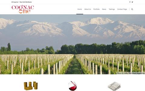 Screenshot of Home Page cognac-one.com - Cognac One | WINE IMPORTER AND WHOLESALER - captured June 17, 2015