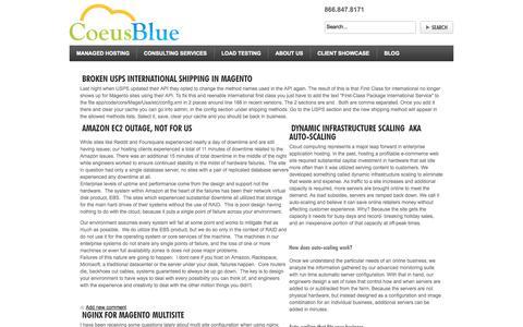 Screenshot of Blog coeusblue.com - Blog - captured Sept. 30, 2014