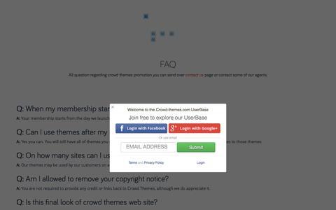 Screenshot of FAQ Page crowd-themes.com - FAQ - Crowd Themes - captured Dec. 13, 2015