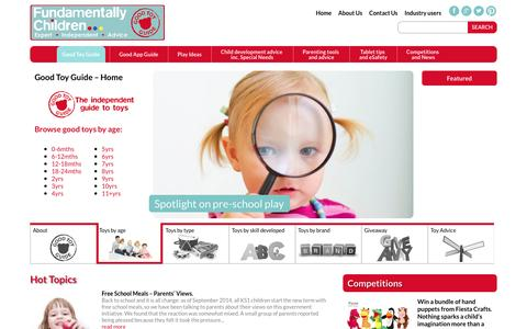 Screenshot of About Page goodtoyguide.com - Good Toy Guide | Parenting Advice : Fundamentally Children - captured Sept. 30, 2014