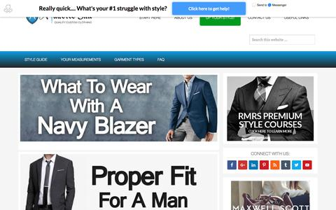 Screenshot of Home Page atailoredsuit.com - Men's Clothing Style & Fashion Guide | Classic & Casual – - captured July 12, 2017
