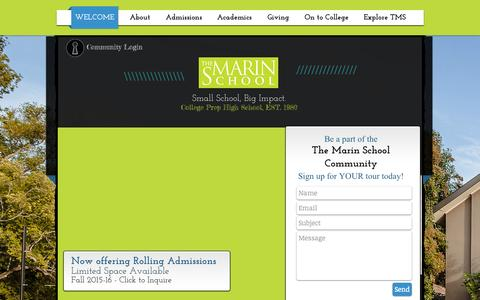 Screenshot of Contact Page themarinschool.org - themarinschool - captured Aug. 15, 2015