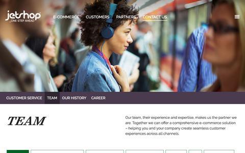 Screenshot of Team Page jetshop.co.uk - Team – Jetshop - captured Oct. 21, 2018