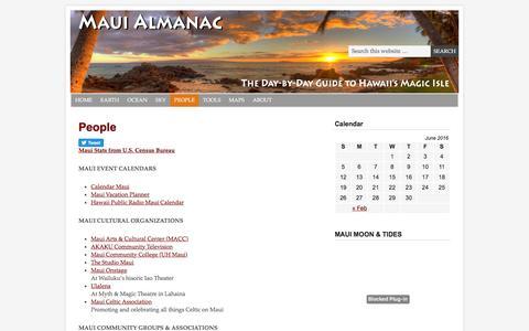 Screenshot of Team Page mauialmanac.com - People | - captured June 21, 2016