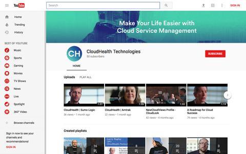 CloudHealth Technologies - YouTube