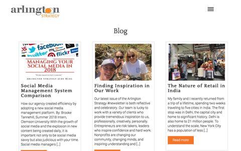 Screenshot of Blog arlingtonstrategy.com - Blog – Arlington Strategy - captured July 30, 2018