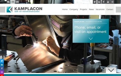 Screenshot of Contact Page kamplacon.com - Contact - captured Nov. 15, 2018