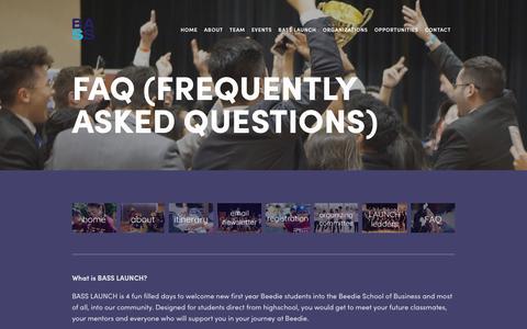 Screenshot of FAQ Page beediebass.com - FAQ — beediebass - captured Oct. 1, 2018