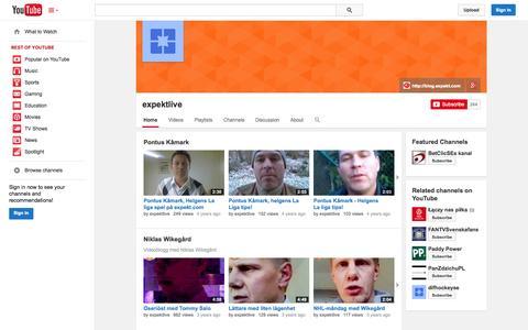Screenshot of YouTube Page youtube.com - expektlive  - YouTube - captured Oct. 22, 2014