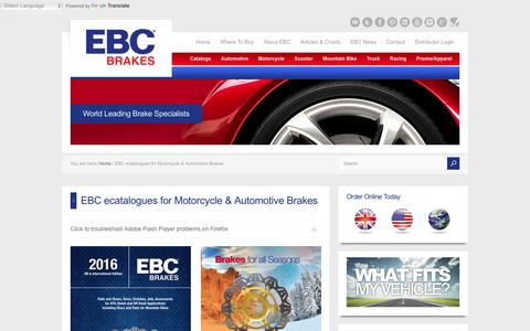 EBC ecatalogues for Motorcycle & Automotive Brakes