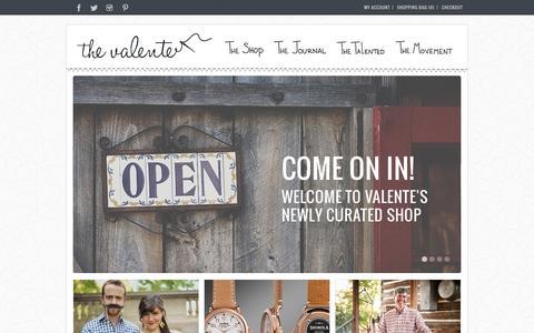 Screenshot of Home Page thevalente.com - Home | The Valente - captured Sept. 30, 2014