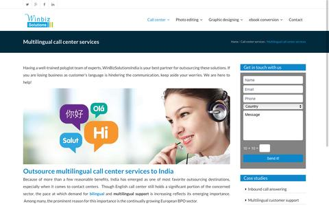 Multilingual call center services|Multilingual call centers|Winbizsolutionsindia