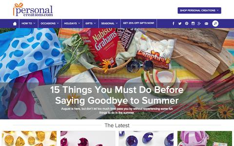 Screenshot of Blog personalcreations.com - Personal Creations Blog - Personal Creations Blog - captured Aug. 24, 2017