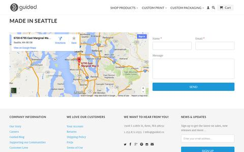 Screenshot of Contact Page guidedproducts.com - Made in Seattle - Contact Guided                           | Guided - captured Oct. 3, 2014