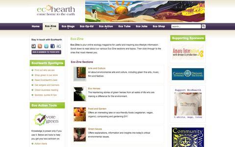 Screenshot of Press Page ecohearth.com - EcoHearth - Eco Zine - captured Sept. 30, 2014