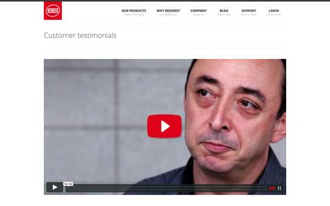 Screenshot of Testimonials Page redseed.me - Testimonials | RedSeed - captured Oct. 26, 2014