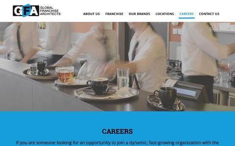 Screenshot of Jobs Page gfacorp.com - GFA Careers - Join a Winning Team! - captured Jan. 15, 2016