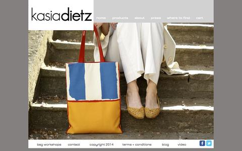 Screenshot of Home Page kasiadietz.com - Kasia Dietz handbags - captured Oct. 6, 2014