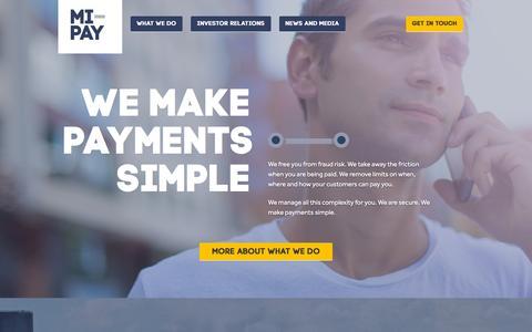 Screenshot of Home Page mi-pay.com - Mi-Pay - captured Dec. 4, 2015