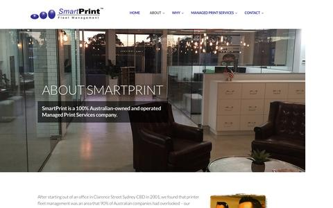 Screenshot of About Page smartprint.net.au - About SmartPrint - Managed Print Services MPS Australia-wide - captured Nov. 19, 2016