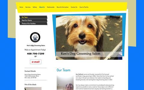 Screenshot of Team Page kensdoggroomingsalon.com - Meet The Ken's Dog Grooming Salon Team - captured Sept. 30, 2014