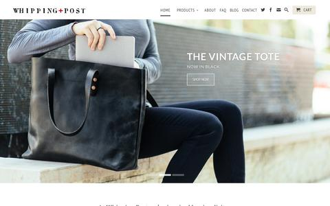 Screenshot of Home Page whippingpost.com - Whipping Post - Uncommonly Durable Goods - captured Sept. 19, 2014