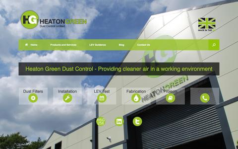 Screenshot of Home Page heatongreen.co.uk - Dust Control Manufacturers, Spares - Batley, West Yorkshire - captured Jan. 28, 2016