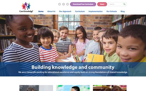 Screenshot of Home Page coreknowledge.org - Core Knowledge Foundation | Building knowledge and community - captured Aug. 28, 2017