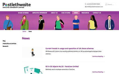 Screenshot of Press Page postlethwaiteco.com - News | Postlethwaite - captured Aug. 14, 2017